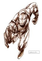 Iron man by johnnymorbius