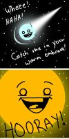 A Comet and the Sun by Homemade-Happiness