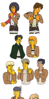 Shingeki no Simpsonized by Tetris-Fan