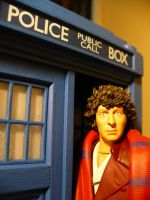 Fourth Doctor and Tardis by DoctorWhoNC