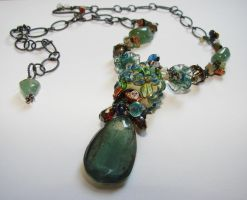 Aquatic Bloom Necklace by CrysallisCreations