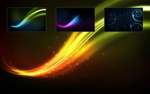 Glow wallpaper series no. 3 by yvaine2010
