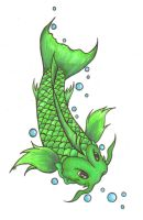 green koi by lilstardust