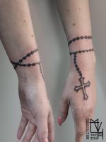 rosary wrist tattoo by Electronic-Sin