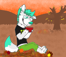 Autumn doge by huskynugget
