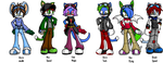 made up Sonic characters by drakebell123