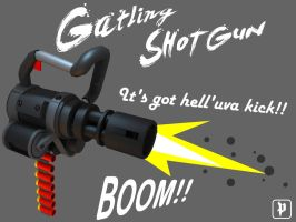 Gatling Shotgun by soongpa