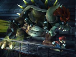 Mario and Bowser 2 by OmegaVileZX