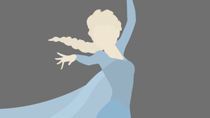 Elsa Frozen - Minimalist Wallpaper (Minimalistic) by FranGrgic