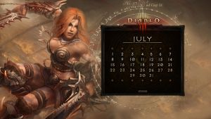 Calendar #13: Universal July by Holyknight3000
