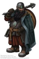 Dwarf Cleric by MeMyMine