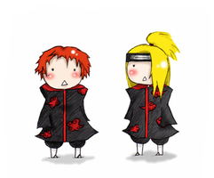 Deidara and Sasori - Chibi's by Cynthia442