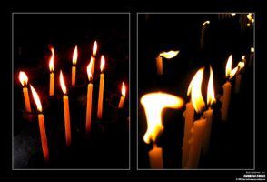 Candles in Paoay by andrewapuya