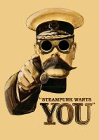 Kitchener Steampunk Poster by MissPennyFarthing