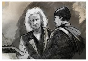 The Edge and Jimmy Page by CartoonCaveman