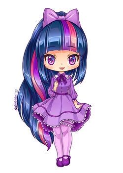 Twilight Sparkle of MLP [Chibi] by Nukababe