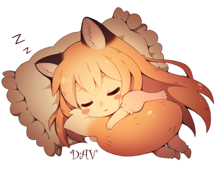 Sleeping Fox by DAV-19