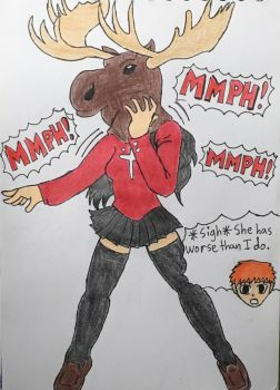 Rin The Moose Girl by moguera2013