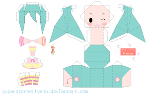 Princess Miku Papercraft by superstarhollyann