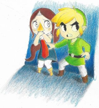Link and Medli by redi4life