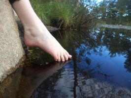 Feet and the Water by fenrirlavey