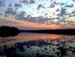 Langley pond sunrise 7-3-09-2 by Joseph-W-Johns