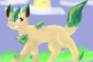 Day 4: Leafeon by maesday
