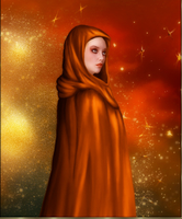 Lady with Cape by Leanny