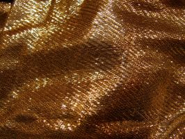 Gold Tinsel Fabric Texture 3 by FantasyStock
