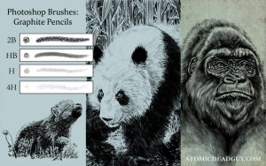 Graphite Pencil Brushes by Shawn-Conn
