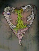 colored carrion heart by carrion-heart