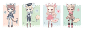 [Open 1/4] Whimsical Chibi Adopts by CottonPuffAdopties
