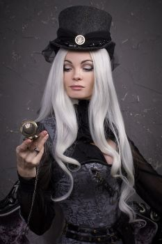 Gothic steampunk girl by NarmeShade