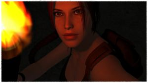 Lara with torch 3 by BL65