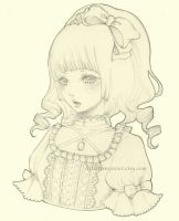 Original Girl Drawing 2 by littletreesprout