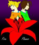 fire flower- len and nodoame by hikaruluna