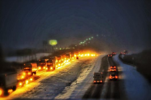 Snow Storm Traffic 2 by SeeThruMineEyes