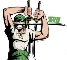 Meet Roronoa Zoro by TheSteveYurko