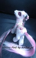 My little pony custom butterfly Vicious Pink by AmbarJulieta