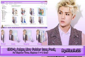 Sehun Live Folder Icon Pack by Rizzie23