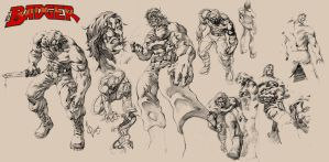 More Badger Sketches by quahkm