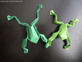 Origami Frog by OrigamiPieces