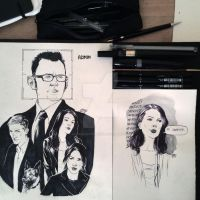 Person of Interest + little Root sketch by cucksillustration