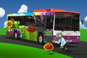 Plants Vs Zombies Bus by EVOV1