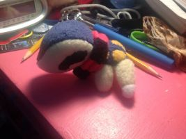 Tiny Cyndaquil plush with a scarf by SmuggleMuffin