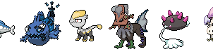 Pixel Art 6 New Pokemon Sun and Moon by JaegerLucciano23