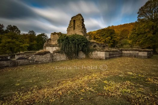Only ruins are left of the monk monastery by Sparvoga