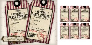 Naughty and Nice Christmas Gift Tags by VectoriaDesigns