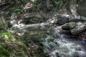 River near Granby, Quebec by Voedin