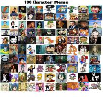 100 characters favorites meme. by Bigotito